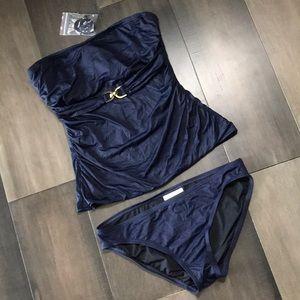Michael Kors Bandeau Tankini Swim Set - Size M